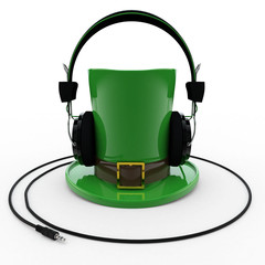 Leprechaun Hat with Headphones