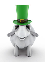 Sheep Wearing Leprechaun Hat