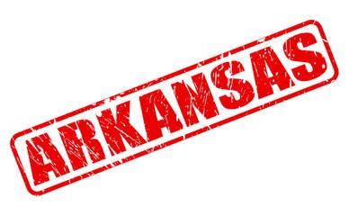 Arkansas red stamp text