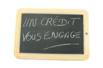 ardoise un crédit vous engage