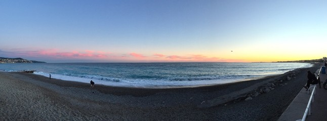 sunset on the beach, Nice