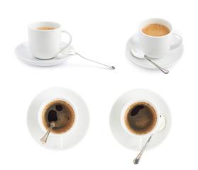 Black coffee in a ceramic cup