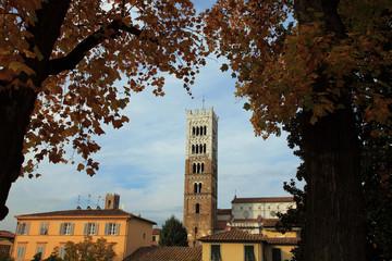 Toscana,Lucca,campanile della Cattedrale