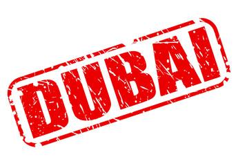 Dubai red stamp text