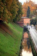Toscana,Lucca,lungo le Mura in autunno