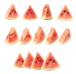 Triangle shaped watermelon slice composition