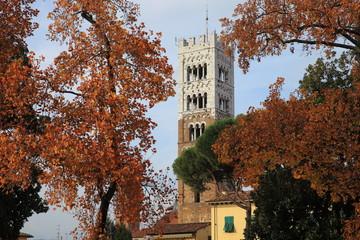 Toscana,Lucca, campanile del Duomo