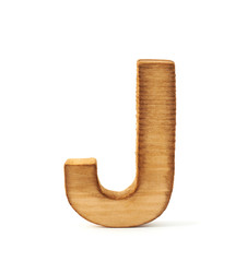 Capital block wooden letter isolated