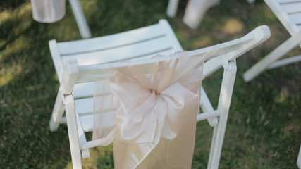 Wooden white chairs