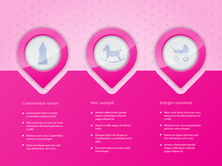 Infographic design with baby icons