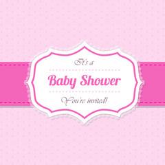Baby shower invitation design in pink
