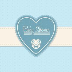 Baby shower invitation design in blue