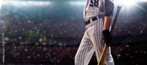 Professional baseball player in action - 76357743