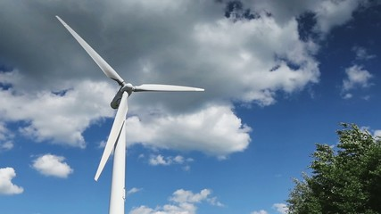 Wind turbines, video