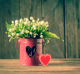 flower and hearts shape.
