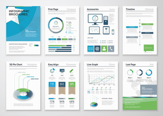 Collection Infographics elements for business brochures