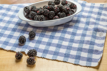 Blackberries on Table in Window Light