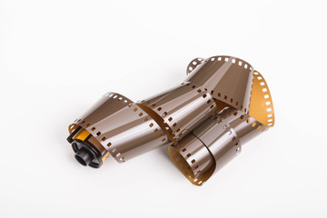 Roll of 35mm Film on White