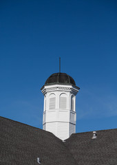 Wood and Copper Cupola on Roof