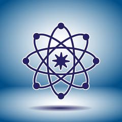 Atom model vector icon
