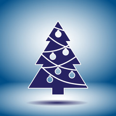 christmas tree vector icon