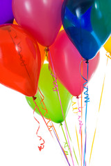 Balloons: Crop of Colorful Balloons Gathered Together