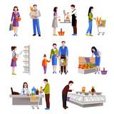 People In Supermarket