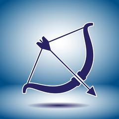 cupid bow vector icon