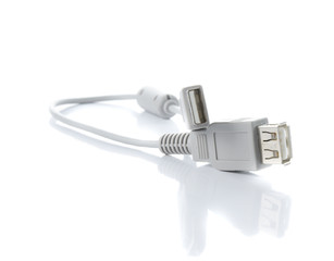 Usb cable isolate on white