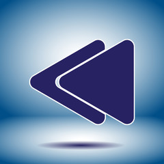 fast backward button vector icon