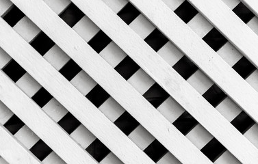 White wooden fence background texture, square pattern
