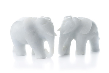 White stone elephants