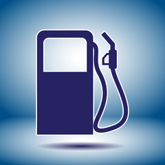 gas station pump vector icon