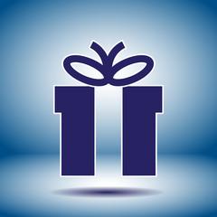 gift box black vector icon
