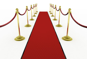 3d: Red Carpet with Stanchions for Movie Premiere