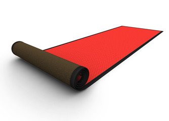 3d: Rolled Red Carpet