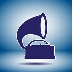 gramophone vector icon