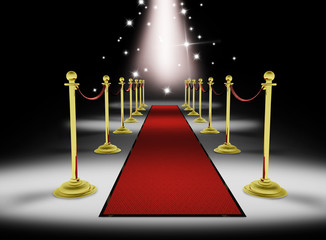 3d: Grand Red Carpet Entrace with Stars