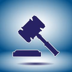 judge hammer vector icon