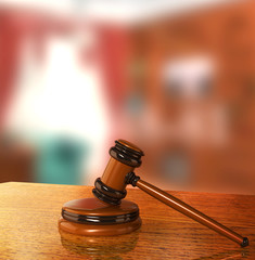 Judicial 3d gavel