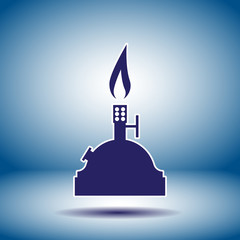 laboratory burner vector icon