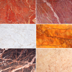 Set of Marble Texture Background