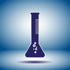 laboratory test tube vector icon