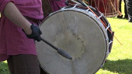 Drum. Percussion instrument. 4K.