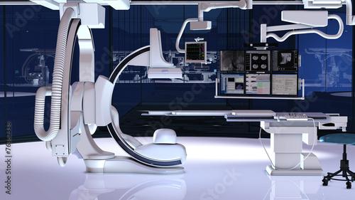 Leinwanddruck Bild Futuristischer Operationssaal