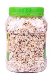 Jar with oatmeal