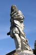 Statue of Cosimo III dei Medici in San Quirico d'Orcia. Tuscany