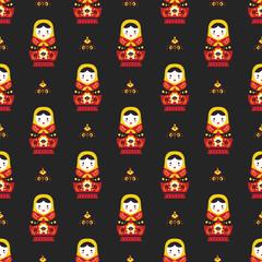 russian doll matreoshka seamless pattern