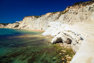 rocks naturally made of smooth pug, Sicily
