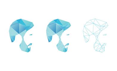 Polygon Mans Face Vector